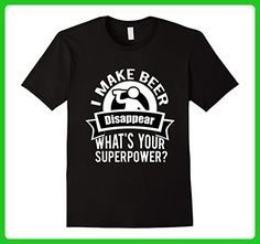 Mens I Make Beer Disappear - What's Your Superpower? Shirt 2XL Black - Food and drink shirts (*Amazon Partner-Link)