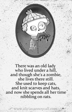 Writer/illustrator Alicia VanNoy Call is creating a series of Apocalyptic Nursery Rhymes that are equal parts cute and disturbing. Funny Quotes, Funny Memes, Hilarious, Creepy Nursery Rhymes, Creepy Poems, Dark Nursery, Morbid Humor, Zombie Life, Pomes