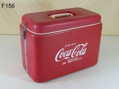 VINTAGE COCA COLA COKE SODA POP ADVERTISING VINYL PICNIC COOLER RARE FIND COOL #CocaCola