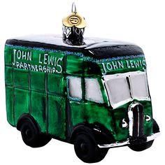 Buy Bombki Glass Little John Lewis Van, Green Online at johnlewis.com