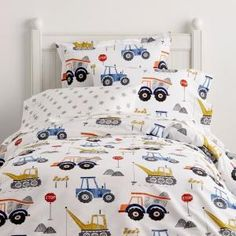 Company Kids by The Company Store Construction Zone Cotton Percale Multi Twin Duvet Cover - The Home Depot Boy Toddler Bedroom, Toddler Rooms, Kids Bedroom, Toddler Boy Room Ideas, Little Boy Bedroom Ideas, Boy Bedrooms, Full Duvet Cover, Duvet Covers, Home Depot