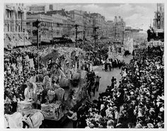 Mardi Gras on Canal Street, New Orleans by  Unknown Artist 1925