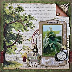 Grandfather Scrapbook Page featuring the Heritage Collection by BoBunny by Rhonda Van Ginkel