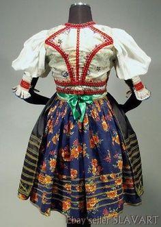 RARE Slovak Rusyn Folk Costume Sambron Slovakia kroj blouse skirt apron vest old Folk Costume, Costumes, Blouse And Skirt, Regional, Roots, Apron, Frozen, Vest, History