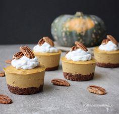 #vegan #veganfood  Raw Pumpkin Pie Mini Vegan Cheesecakes by @healthyeating_jo | Sweeter Life Club