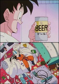Goku tries beer - Visit now for 3D Dragon Ball Z compression shirts now on sale! #dragonball #dbz #dragonballsuper