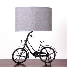 Jasper Metal Bicycle Lamp Grey shade | Dunelm