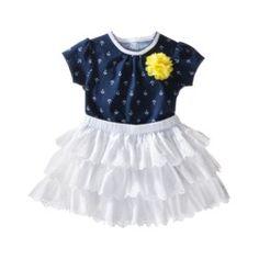 Cherokee® Newborn Girls' Bodysuit and Skirt Set - Blue/White Quick Information
