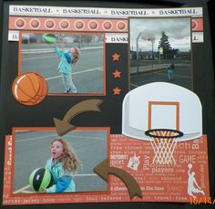 I love these kits (out on a limb scrapbooking)  Love Basketball Page 2