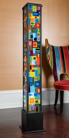 Carnival Floor Lamp by Helen Rudy: Art Glass Floor Lamp available at www.artfulhome.com