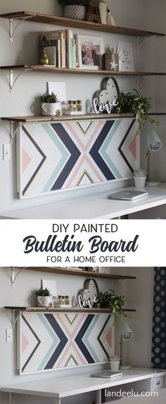 Amazingly Stylish DIY Cork Board You Will Want to Make - Pretty and Easy Home Office or Teen Bedroom Organizer and Decor piece you'll love! landeelu.com