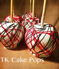 Red Black and White Candy Apples https://www.etsy.com/listing/253545837/candy-apples