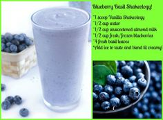 Blueberry Basil Shakeology Recipe ~ Beachbody's Shakeology is the healthiest meal of the day. Shakeology is packed with more than 70 of the world's most potent, most nutritious, and most delicious ingredients.
