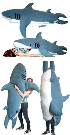 This sleeping bag is SO COOL!! Choses Cool, Shark Week, Cool Inventions, Sharks, Nerdy, Cool Things To Buy, Geek Stuff, Hilarious, Barn