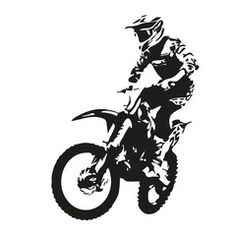 Motocross Rider Vector Silhouette Removable Wall Stickers 97824887
