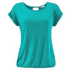 a3ad8eac68d55e ELFIN Damen T-Shirt Kurzarm Blusen Shirt mit Allover-Minimal Print Lose  Stretch Basic Tee #Bekleidung #Damen #Tops T-Shirts-Blusen #Blusen-Tuniken  ...