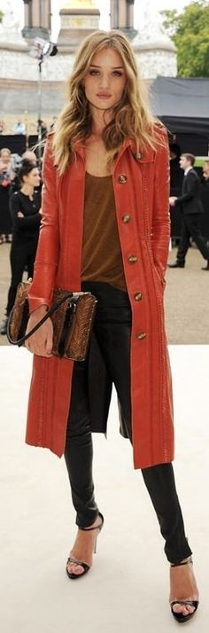 Chic long sweater coat--creates a long line.