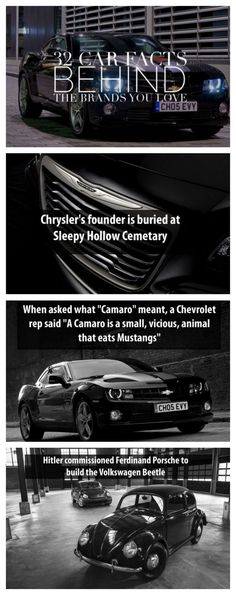 32 Car Facts You Didn't Know Behind The Brands You Love. Click to be blown away! #spon #autoawesome