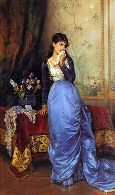 1879. The Letter by Auguste Toulmouche.