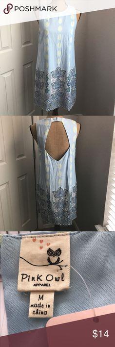 Selling this Pink Owl   Sky Blue Paisley Dress   Medium on Poshmark! My username is: callyguthrie. #shopmycloset #poshmark #fashion #shopping #style #forsale #Pink Owl #Dresses & Skirts