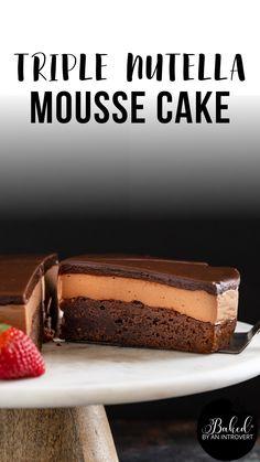 Delicious Cake Recipes, Homemade Cake Recipes, Best Cake Recipes, Yummy Cakes, Sweet Recipes, Dessert Recipes, Best Chocolate Cake, Delicious Chocolate Cake, Chocolate Mouse Cake