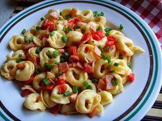 Kuchnia z widokiem na ogród: Tortellini zasmażane. Szybki obiad lub kolacja.