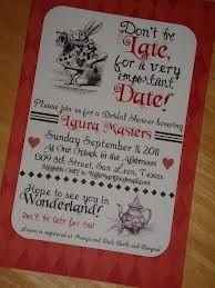 Alice in Wonderland Party Invitations Inspiration Ideas