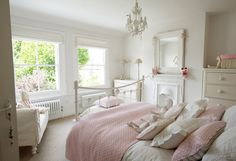 7 Shabby Chic Bedroom Interior Design Perfect For Your Apartment Apartment Decorating Are you currently building your first Shabby Chic Bedroom? If so, there are a few things you need to consider when building your bedroom. The Shabby C. Pink Bedroom Decor, White Bedroom Decor, Shabby Chic Bedrooms, Shabby Chic Decor, Home Bedroom, Pretty Bedroom, Pastel Bedroom, Girls Bedroom, Pink Bedrooms