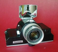 The Fotochrome camera is one of the most unusual cameras. It was made by Petri in the 1960's.
