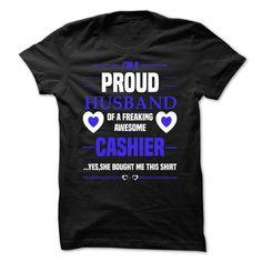 Husband cashier T Shirts, Hoodies. Get it here ==► https://www.sunfrog.com/LifeStyle/Husband-cashier.html?57074 $19.99