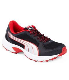 Puma Rider Black and Red Sport Shoes