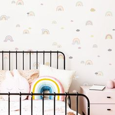 Moon Phases Wall Decal Multicolored Moon Phases Moon Phases Decor Moon ga4