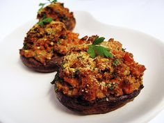 Stuffed Portobello Mushrooms, A Vegetarian Dinner That Makes You Forget It's Vegetarian