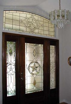 VIEW The Texas Star Leaded Glass Bevel Entry