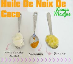 Masque Visage Au Banane et huile de coco
