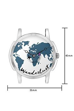Buy travel watch bigowl airplane world map design leather strap buy travel watch bigowl airplane wanderlust design leather strap casual wrist watch gifts for gumiabroncs Images