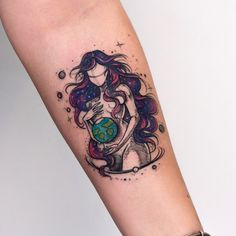 Tattoo @robcarvalhoart - Tattoo Universe | Galaxy | Psicology | Psicologia | Illustration | Terra | Desenho | Ilustrador |