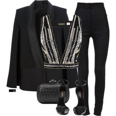 A fashion look from November 2015 featuring sass & bide tops, Victoria Beckham blazers and Dolce&Gabbana pants. Browse and shop related looks.
