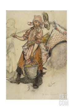 Washerwoman Giclee Print by Carl Larsson at Art.comI love Carl's celebration of all things every day. She's dancing here!
