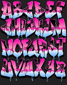 Image of Graffiti Alphabet - Pink Power