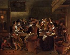 Twelfth-Night Feast - Jan Steen. 1662. Oil on canvas. 131.1 x 164.5 cm. Museum of Fine Arts, Boston MA, USA.