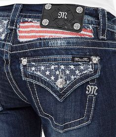 Miss Me Boot Stretch Jean at Buckle.com #americana #flag