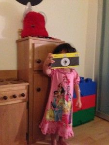 Lylah snaps a shot with her Box Play For Kids camera | Lalaalu
