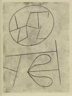 Original etching Jean Arp, Gravures original Jean Arp, Original Radierung Jean Arp,   title: vers le Blanc infini Nr. 412,  technology etching