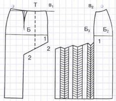 Прямая юбка с подрезом и односторонними складами
