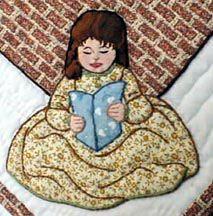 """#12  """"Bonnet Proportional Children & Borders""""   Corner girl."""
