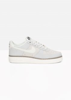 & Other Stories image 1 of Nike Air Force 1 Suede in Beige/Grey