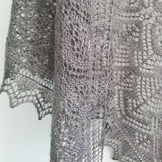 Ravelry: Shetland Forest Garden pattern by Cath Ward Crochet Shawls And Wraps, Knitted Shawls, Lace Knitting Patterns, Forest Garden, Garter Stitch, Beaded Lace, Baby Knitting, Knit Crochet, Ravelry