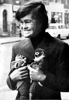 Micky Dolenz of the Monkees with Monkeys! :D