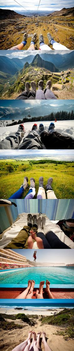 Feet Outstretched Create a series of photos where you and your significant other have your feet outstretched in front of you. Whether you're...